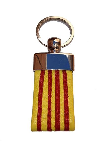 Llavero de Piel Bandera de Catalunya