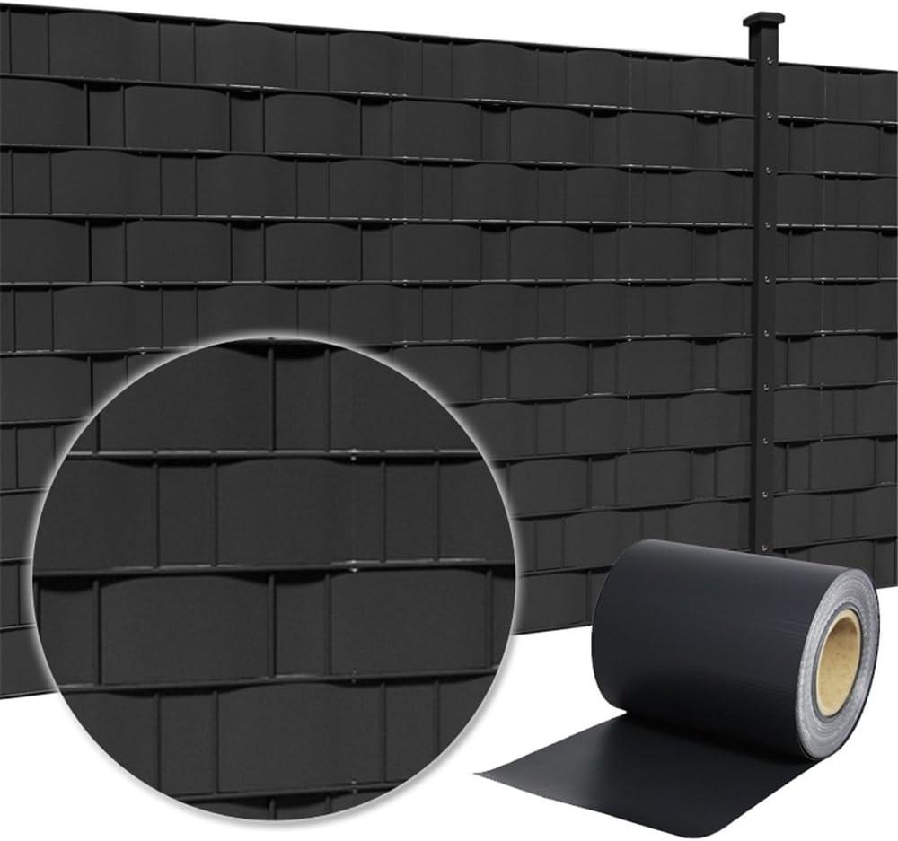 MCTECH 35m x 19cm PVC paravista Rotolo recinzione di Copertura protettivo per giardino