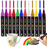 Samhe Paint Pens for Rock Painting Acrylic Markers Permanent Non-Toxic Water Resistant Medium Tip for Wood, Glass, Metal and Ceramic Works On Most Surfaces