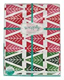Wrappily Eco Gift Wrap Co.. - Reversible Wrapping Paper Tannenbaum - 6 Sheet(s)