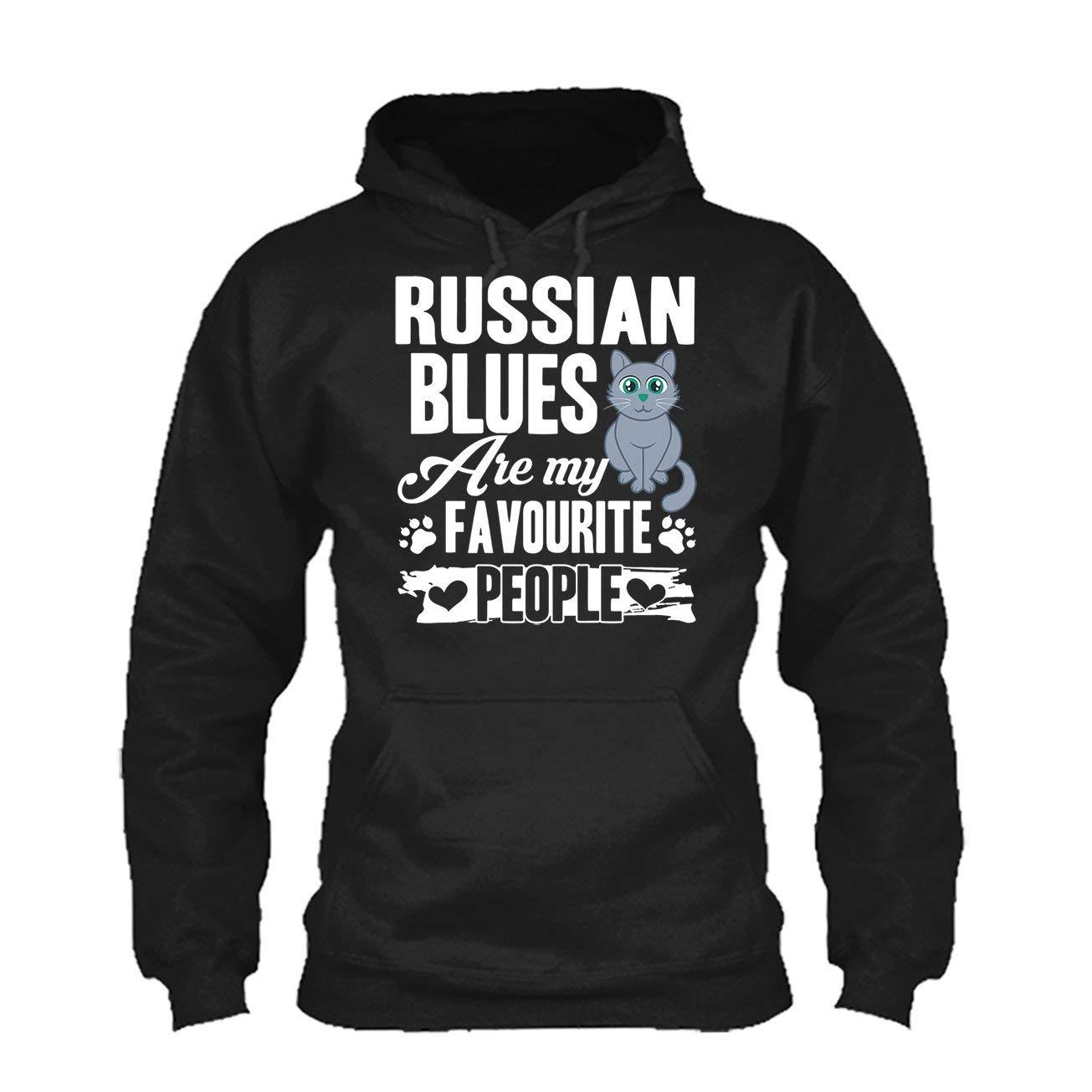 Sweatshirt LightRed Russian Blues are My Favorite People Tee Shirt Hoodie