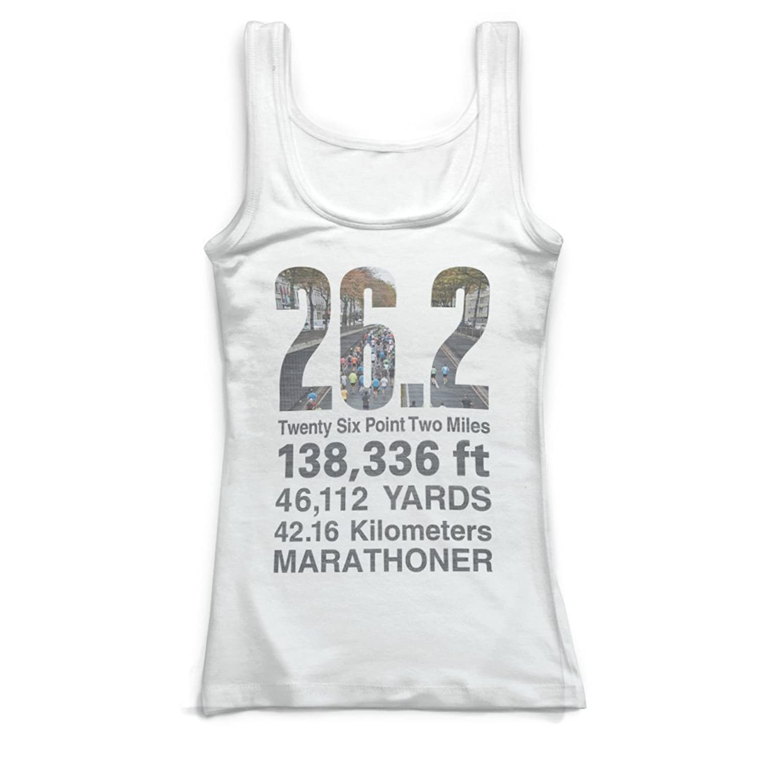 Gone For a Run Running Vintage Fitted Tank Top - 26.2 Math Miles