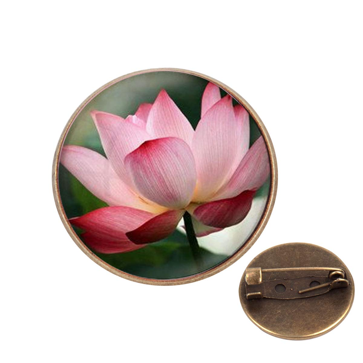 Pinback Buttons Badges Pins Summer Art Lotus Lapel Pin Brooch Clip Trendy Accessory Jacket T-Shirt Bag Hat Shoe