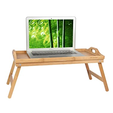 Bed Tray Table with Folding Legs,Serving Breakfast in Bed or Use As a TV Table, Laptop Computer Tray, Snack Tray with Moso Natural Bamboo by Artmeer