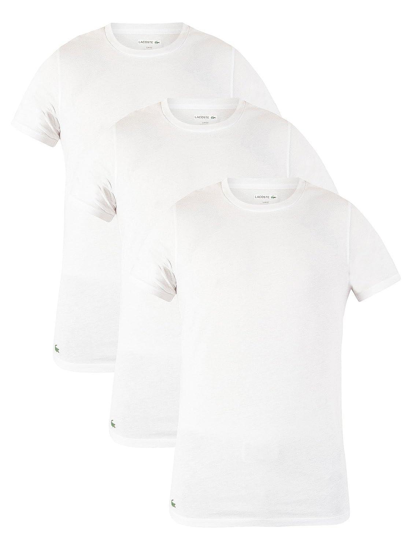 Lacoste Hombre 3 Pack Slim Fit Camisetas, Blanco