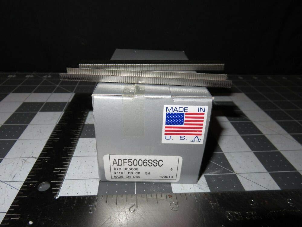 5000 pcs 3/16'' 5mm Leg Stainless Steel Staples ADF5006SSC