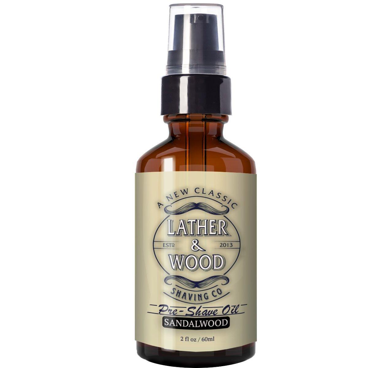 Best Pre-Shave Oil, Sandalwood, Premium Shaving Oil for Effortless Smooth Irritation-free Shave. 2 Oz