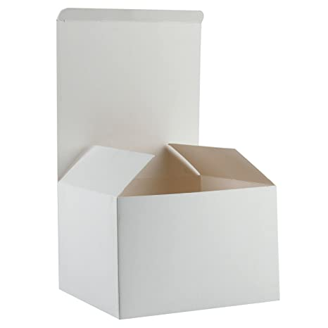 RUSPEPA 15.5 X 15.5 X 10.5Cm Cajas De Regalo De Cartón Reciclado Con Tapas,