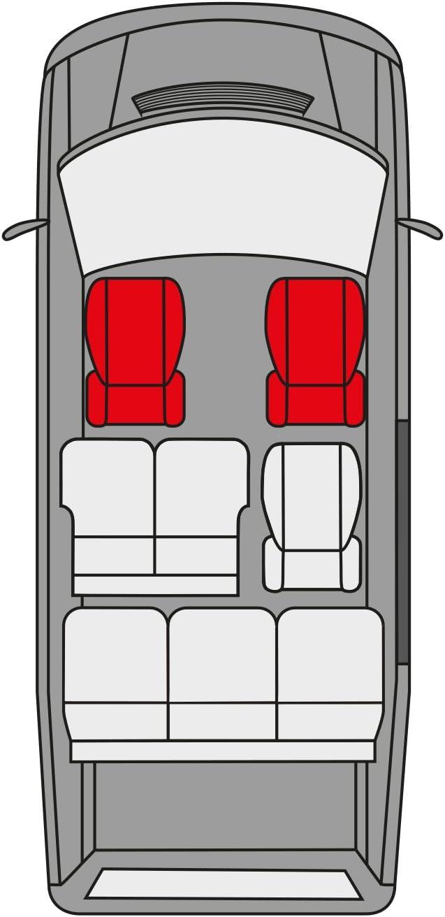 bracciolo Laterale rmg-distribuzione Coprisedili per Grand Vitara Versione compatibili con sedili con airbag 1998-2015 sedili Posteriori sdoppiabili Colore Nero Blu R05S0832