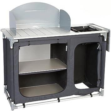 Bocamp Küchenschrank mit Waschbecken Aluminium Vorzeltmöbel: 121cm ...