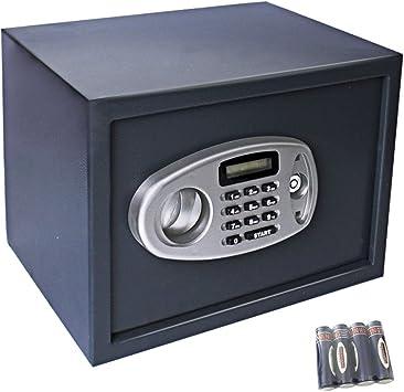 Display4top 14L Caja Fuerte electrónica - Negro (35 x 25 x 25 cm): Amazon.es: Bricolaje y herramientas