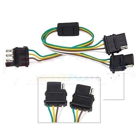 amazon com : 4pin for led tailgate bar 2 female way y-split harness adapter  trailer splitter : everything else
