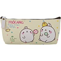 Sanwooden Creative and Fashionable Cute Students School Stationery Faux Leather Cartoon Rabbit Pencil Case Pouch - 1#
