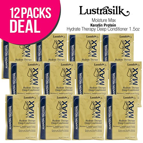 ((12 PACKS) Lustrasilk Moisture Max Keratin Protein Hydrate Therapy Deep Conditioner)