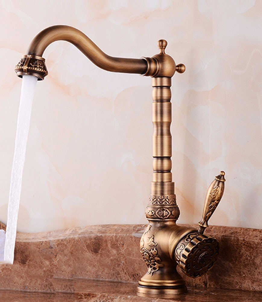 AWXJX European style retro style copper swivel basin hot and cold a raised toilets sinks faucets