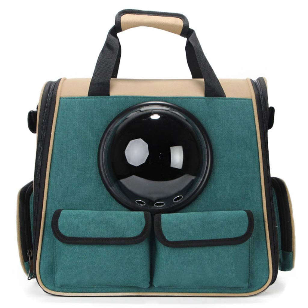 Airline Approved Soft-Sided Folding Pet Supplies Cross-leg Shoulder Bag Portable Space Pet Cabin Breathable Cat Cage Dog Handbag Shoulder Bag Backpack Suitable for Puppies Small Animal