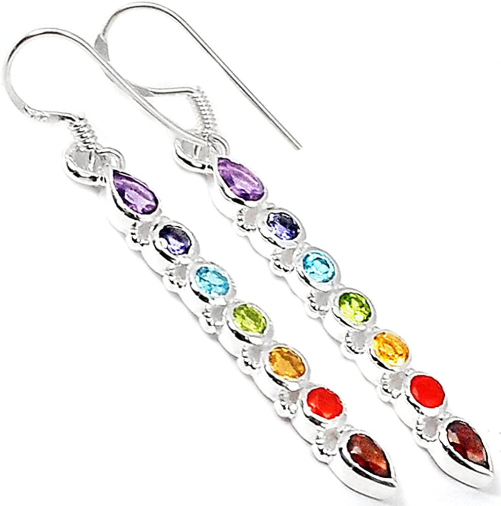 Infinity Chakra 925 Sterling Silver Earrings Jewelry N-CP228