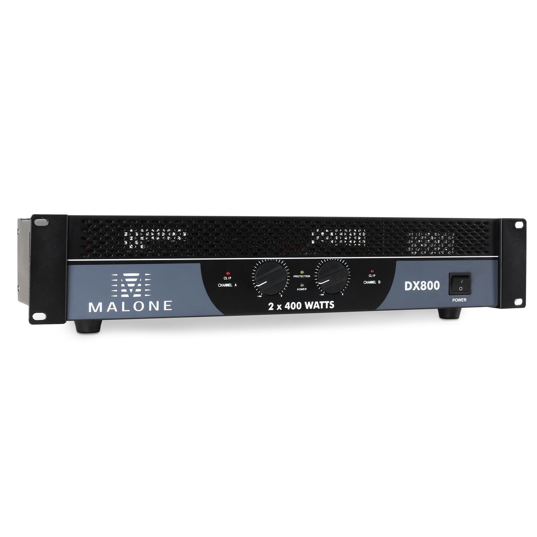 Malone DX1500 2.0 Rendimiento/Fase Alámbrico Negro - Amplificador de Audio (2.0 Canales, 0,1%, 90 dB, 750 W, 450 W, 1500 W): Amazon.es: Electrónica