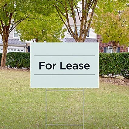 18x12 for Lease Basic Teal Double-Sided Weather-Resistant Yard Sign 5-Pack CGSignLab
