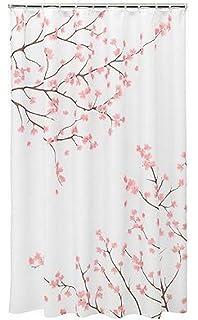 Home Classics Cherry Blossom Fabric Shower Curtain, Pink, ...
