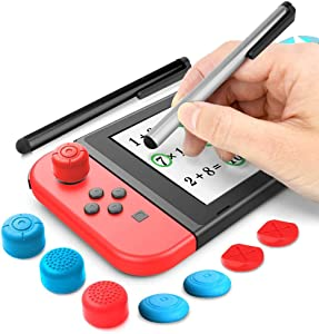 Stylus Kit for Nintendo Switch, 2 Stylus for Switch and 6 Thumb Grip Caps