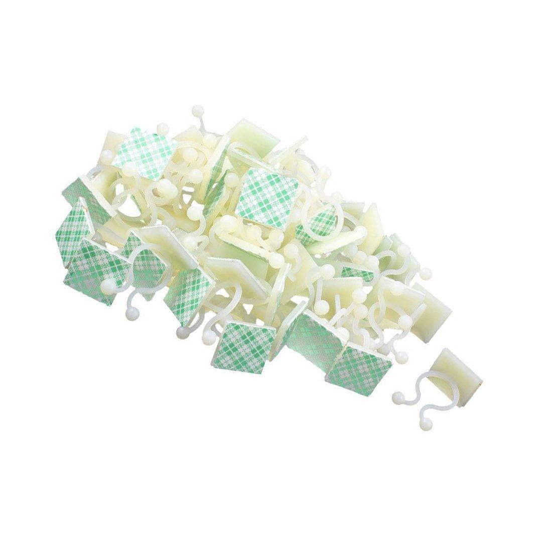 TOOGOO 66 Pcs Blanc Nylon Auto-adhesif base de fixation de fil de Torsion Attaches pour cables