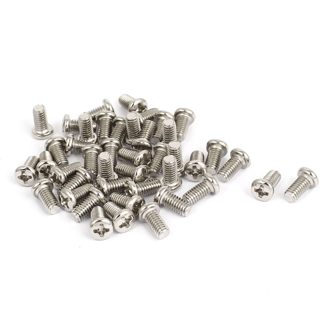 Dragonmarts BISS Uxcell a15121000ux0158 M4x8mm Thread 0.7mm Pitch Phillips Cross Head Bolt Machine Screw Pack of 40