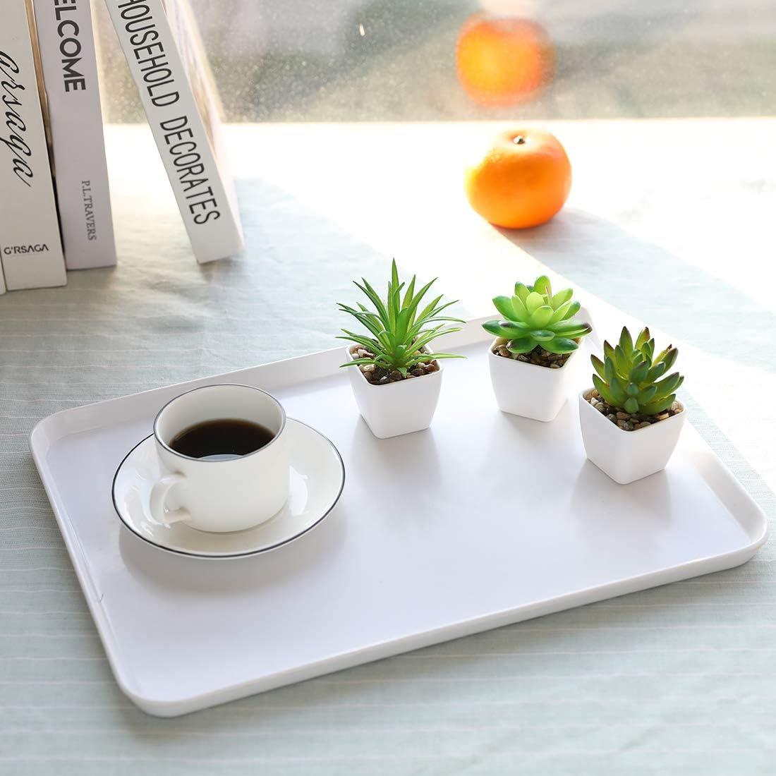 Nubry Juego de 6 plantas suculentas artificiales de pl/ástico para decoraci/ón de mesa de oficina en el hogar juego de 6