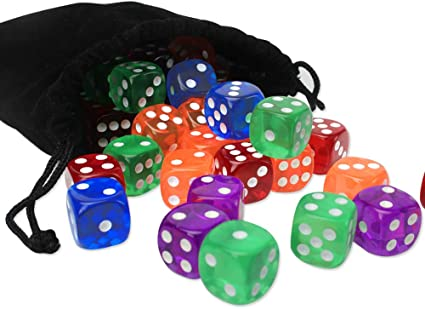 A AMhomely 10PC W/ürfelset sortierten Transparente Farbe mit je 16mm d6 Standardw/ürfel,W/ürfel Spielw/ürfel Spiel Spielezubeh/ör Knobeln Augen Cube transparent bunt