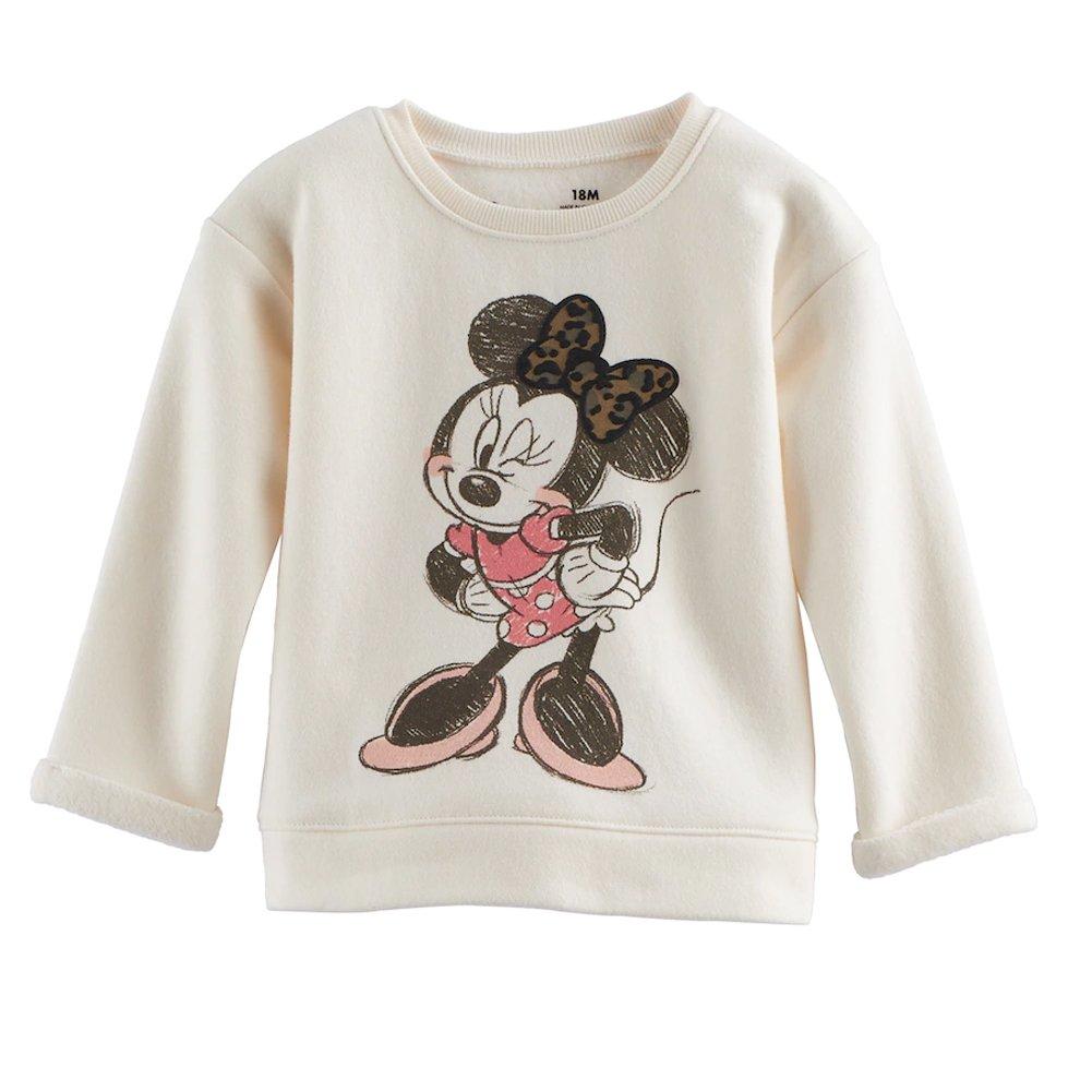 Disney Baby Girls' Minnie Mouse Pullover Sweatshirt Sweater