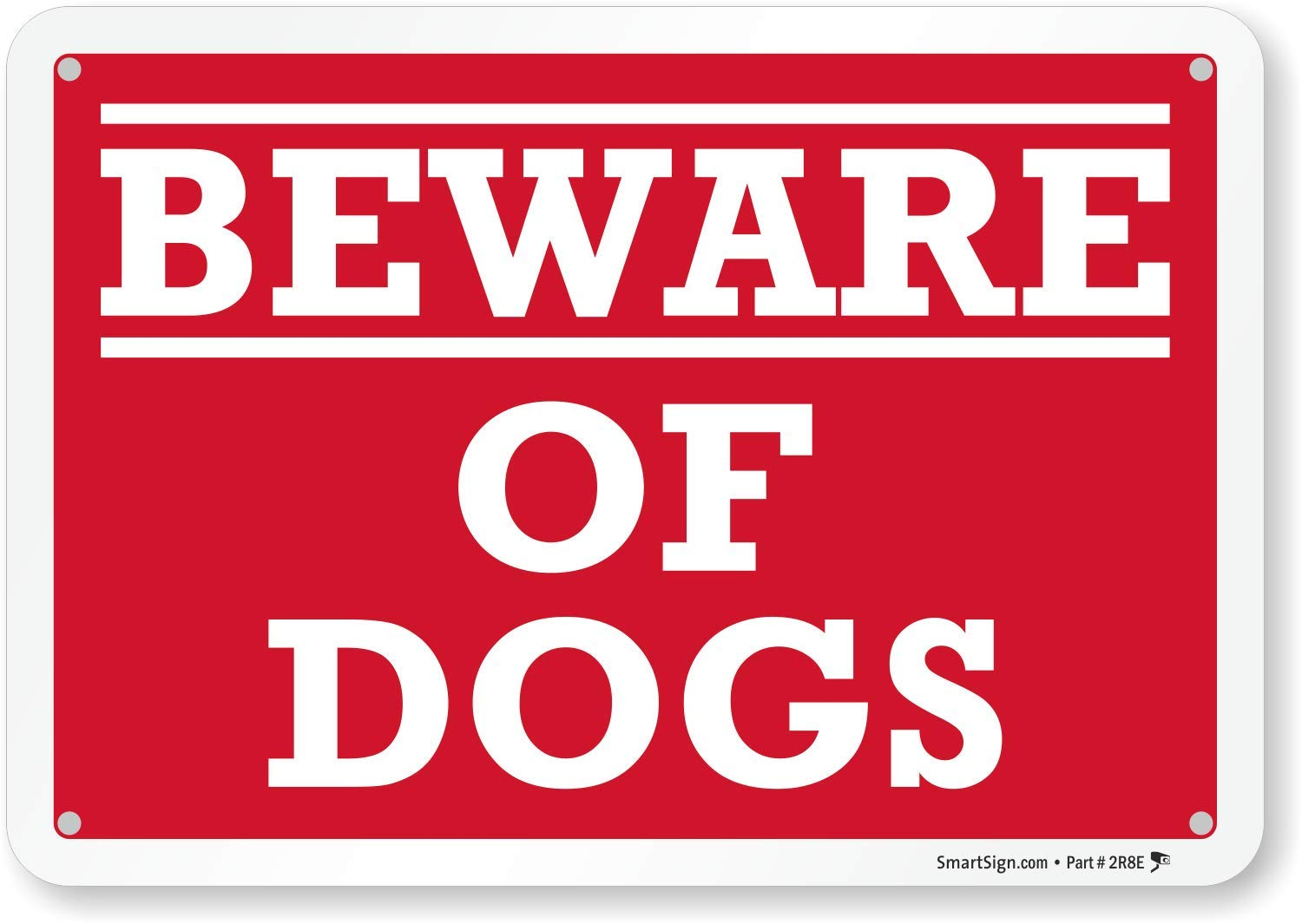 Beware Of Dogs Sign By Smartsign 7 X 10 Aluminum Yard Signs