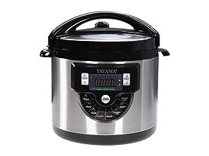 Tayama TMC-60XL 6 Quart 8 in 1 Multi Function Pressure Cooker 6 Qt Black