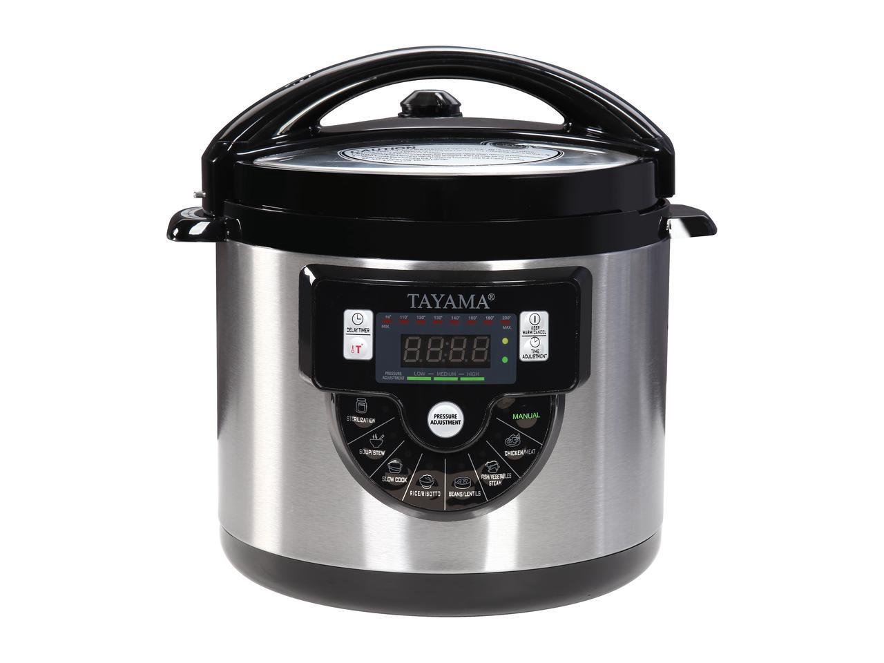 Tayama TMC-60XL 6 quart 8-in-1 Multi-Function Pressure Cooker, Black