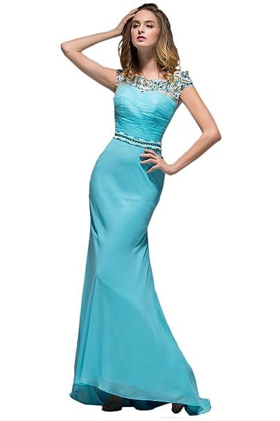 ivyd ressing Mujer de gran calidad piedras croma fijo vestido Prom vestido Fiesta Vestido para vestido de noche: Amazon.es: Ropa y accesorios