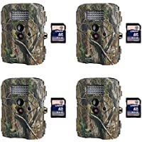 Moultrie I-35 4.0MP Game Trail Camera, 4 Pack + SD Card (Certified Refurbished)