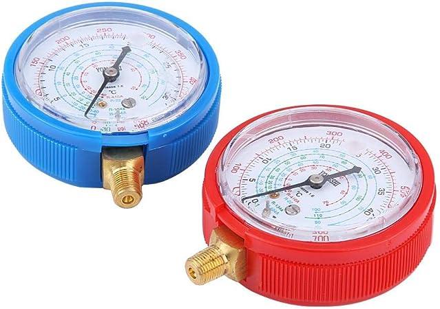 Manifold R134a Set manometro,R134a Set manometri collettore aria condizionata condizionatore con strumento tubo flessibile di ricarica da 5 piedi
