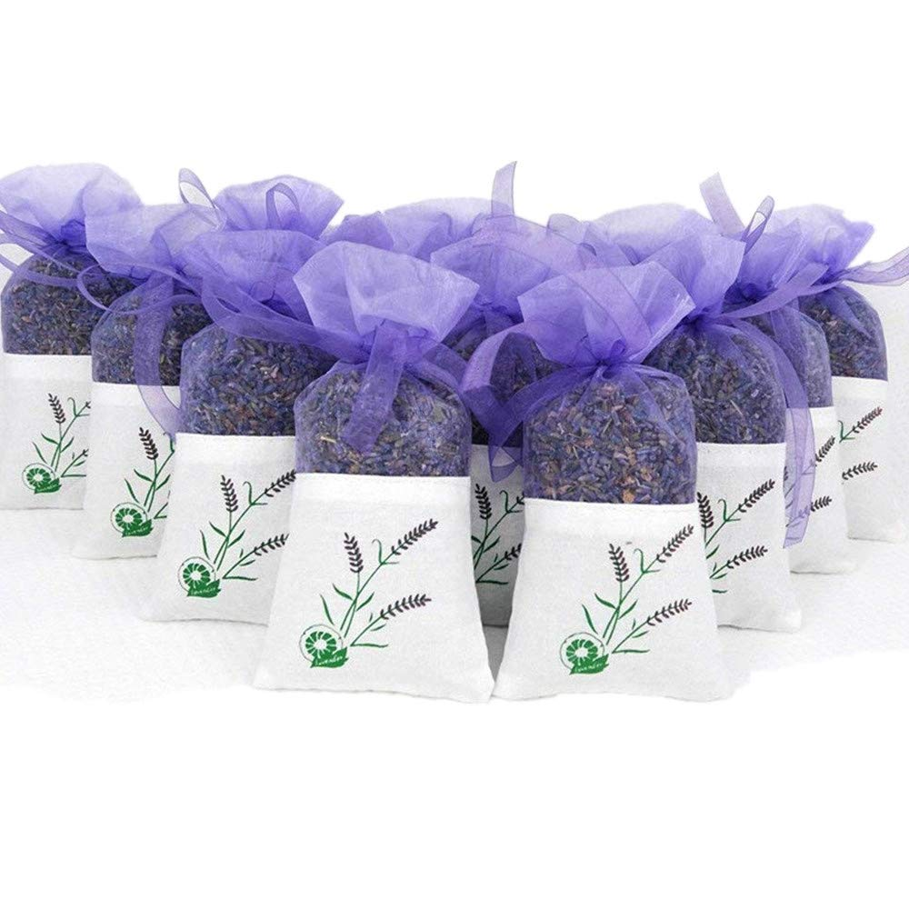 10 Pack Scented Dried Lavender Buds Aromatic Air Fresh Sachets Dry Flowers Herb Home Decoration Deodorant Sachets EBUYOM