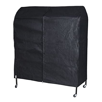 Hangerworld Funda Transpirable Protectora Perchero móvil, 122 cm, Color Negro
