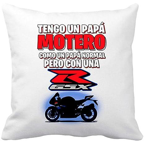 Diver Bebé Cojín con Relleno Tengo un papá Motero Moto GSX ...
