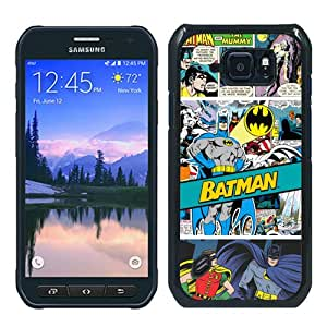 Fashionable S6 Active Case,DC Comics Batman Batman Comic Book Black Customized Case For Samsung Galaxy S6 Active Case