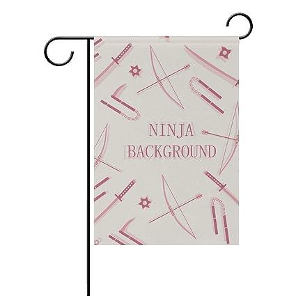 Amazon.com : Jojogood Ninja Background Garden Flag 12