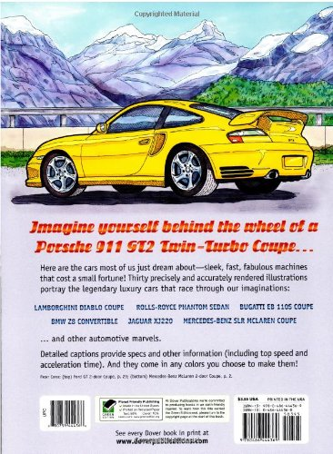 Luxury Cars Coloring Book Dover History Bruce LaFontaine 9780486444369 Amazon Books