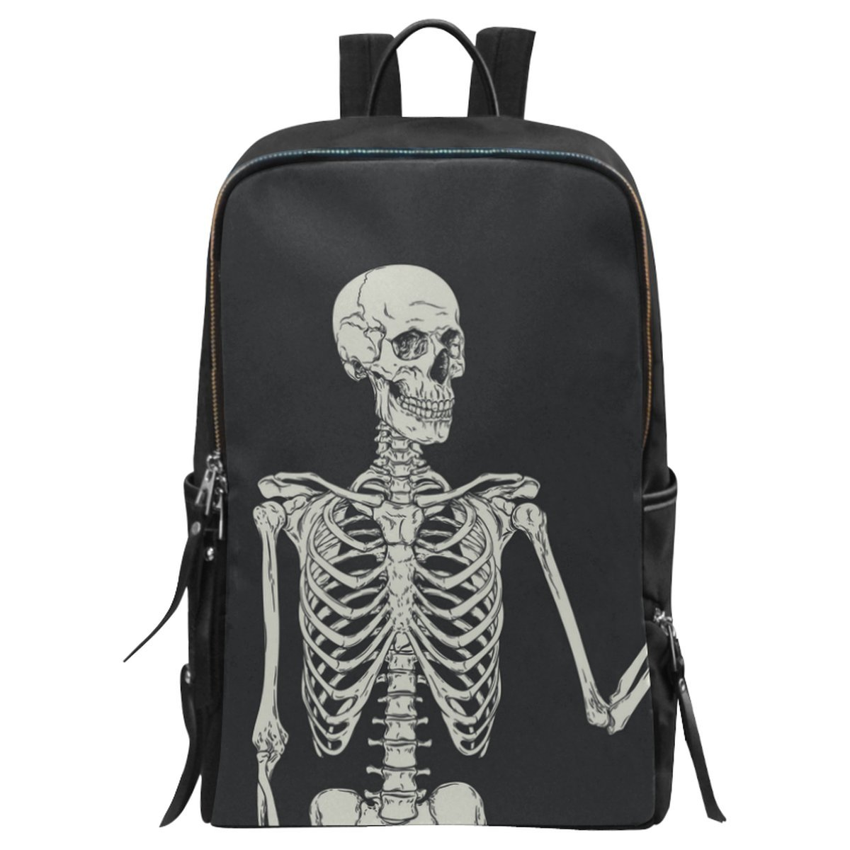 a32ca34bc6e6 InterestPrint Skull Human Skeleton School Casual Travel Backpack ...
