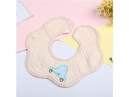 Biberón de alimentación Toalla bebé babero bordado Toalla Babero babero bebé Drool adecuado para niñas de