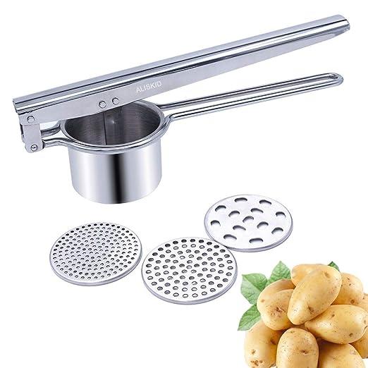 ALIKUGOU Potato Ricer StainlessSteel Potato Masher