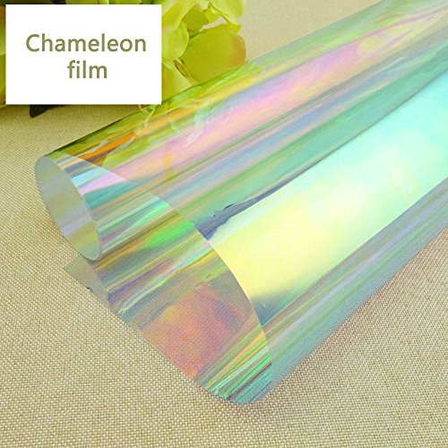 HOHO 137cmx500cm Colorful Chameleon Window Film Window Decoration Solar Tint One Way Vision Privacy Protection by HOHO