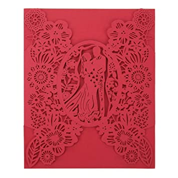 Amazon convites wedding invitation 10 pcs hollow wedding convites wedding invitation 10 pcs hollow wedding invitations card delicate carved lovers pattern tri folding m4hsunfo