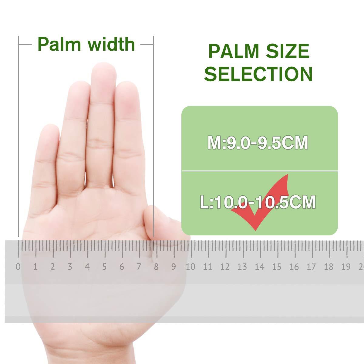 Bianco NASUM Mano Cubierta in Gomma PVC 100 PZ M Mano Cubierta Monouso,Micro Elastici Trasparenti Mano Cubierta
