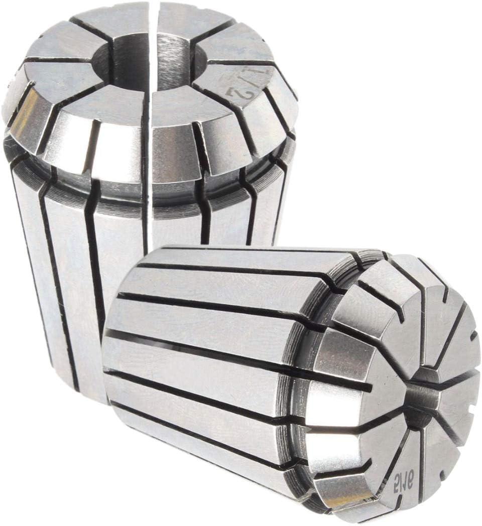 MEIZXIU 10pcs//Set ER32 Collet Chuck Holder MT3 M12 Morse Taper ER32 Spring Collets for Lathe Milling Tools