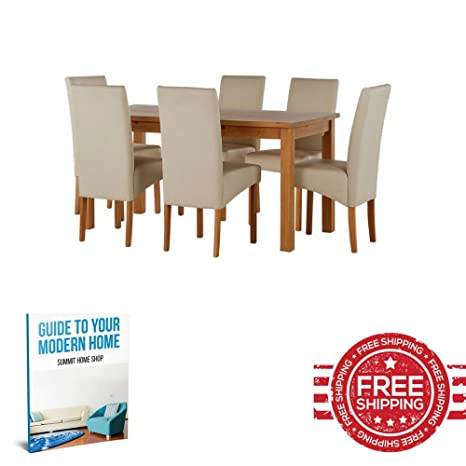 Tavolo da pranzo e sedie in legno moderno squisito contemporaneo in ...